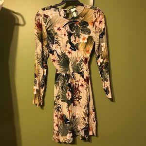 H&M Floral Long Sleeve Dress